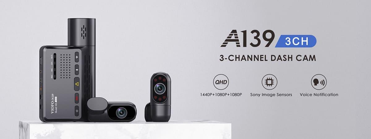 VIOFO A139 с тремя камерами
